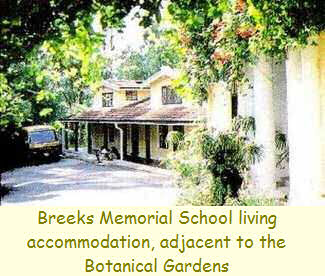 Breeks Memorial School living accommodation, adjacent to the Botanical Gardens