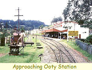 Approaching Ooty Station