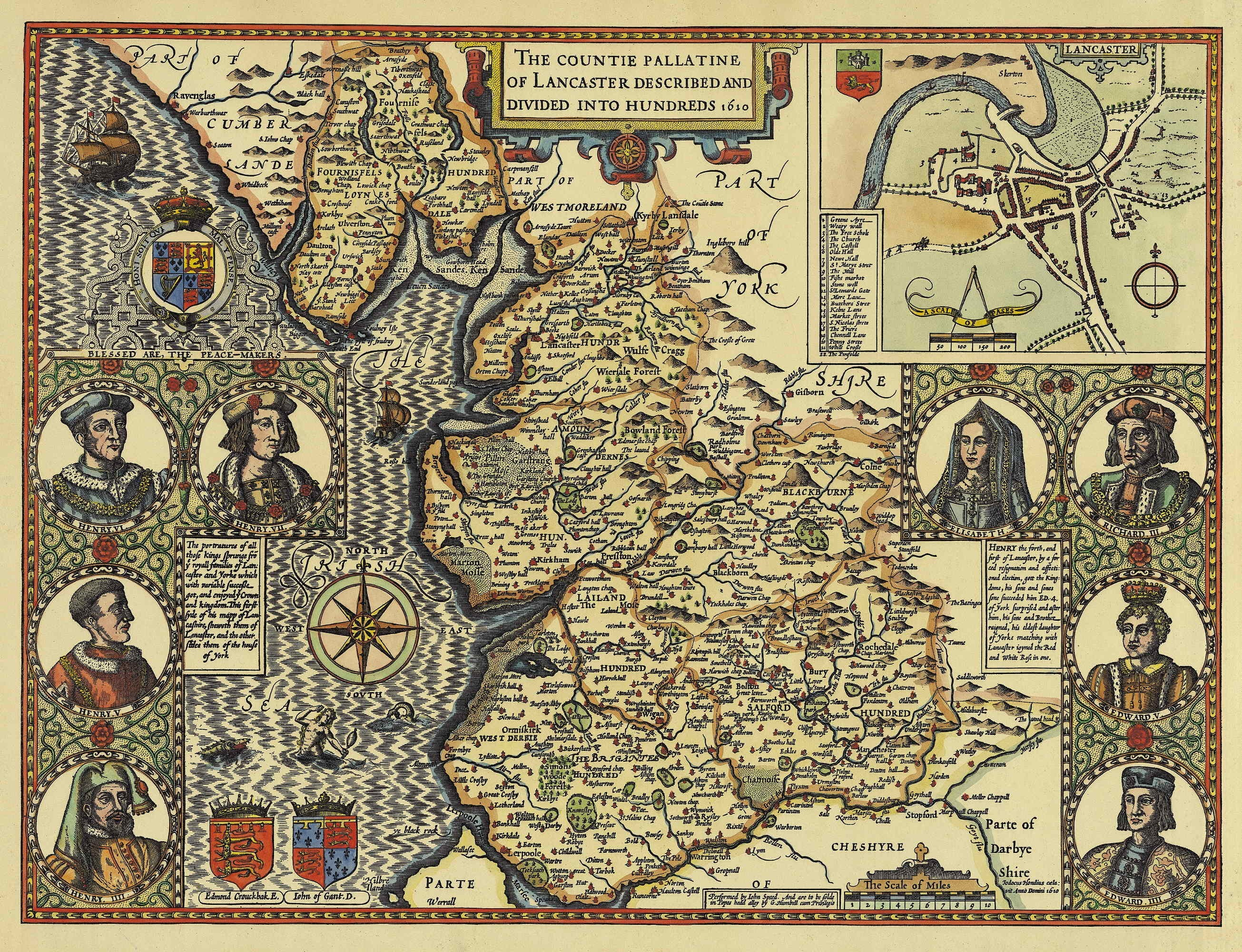 Maps 1610 map of county of lancashire hundreds gumiabroncs Gallery